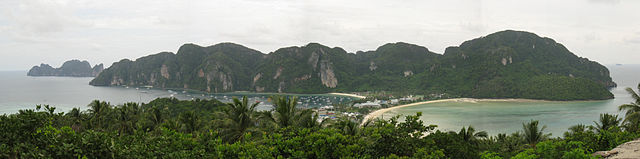 Books set in Thailand - Ko Phi Phi Don Panorama