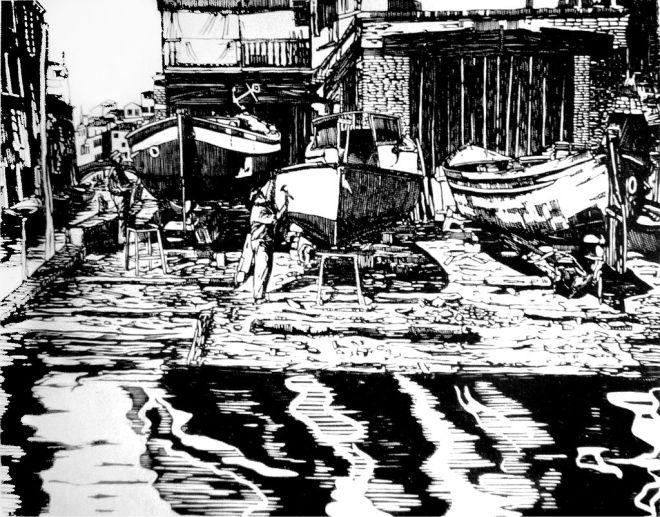 Venice squero